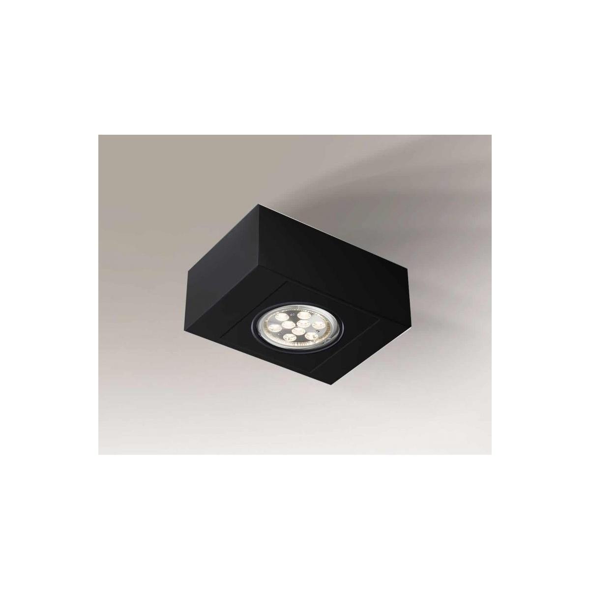 Shilo UTO H 1xES111 230V czarny natynkowa 1218