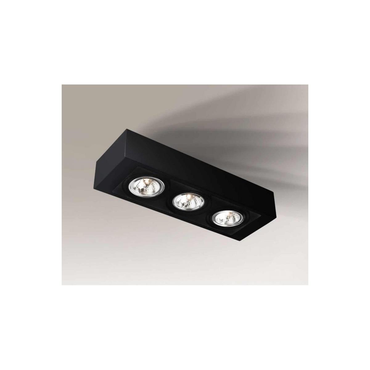 Shilo UTO H 3xES111 230V czarny natynkowa 1220