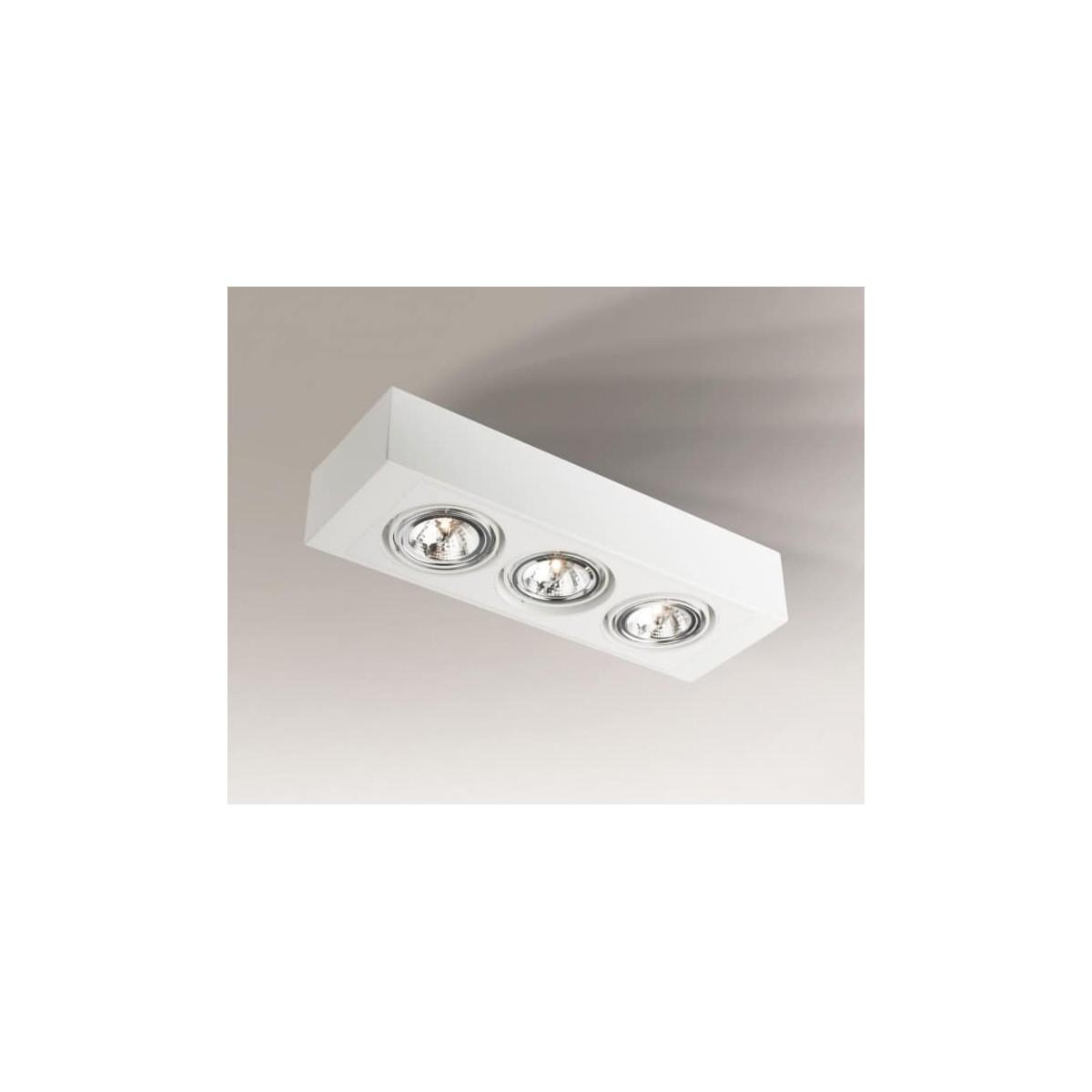 Shilo UTO H 3xES111 230V biały natynkowa 7112