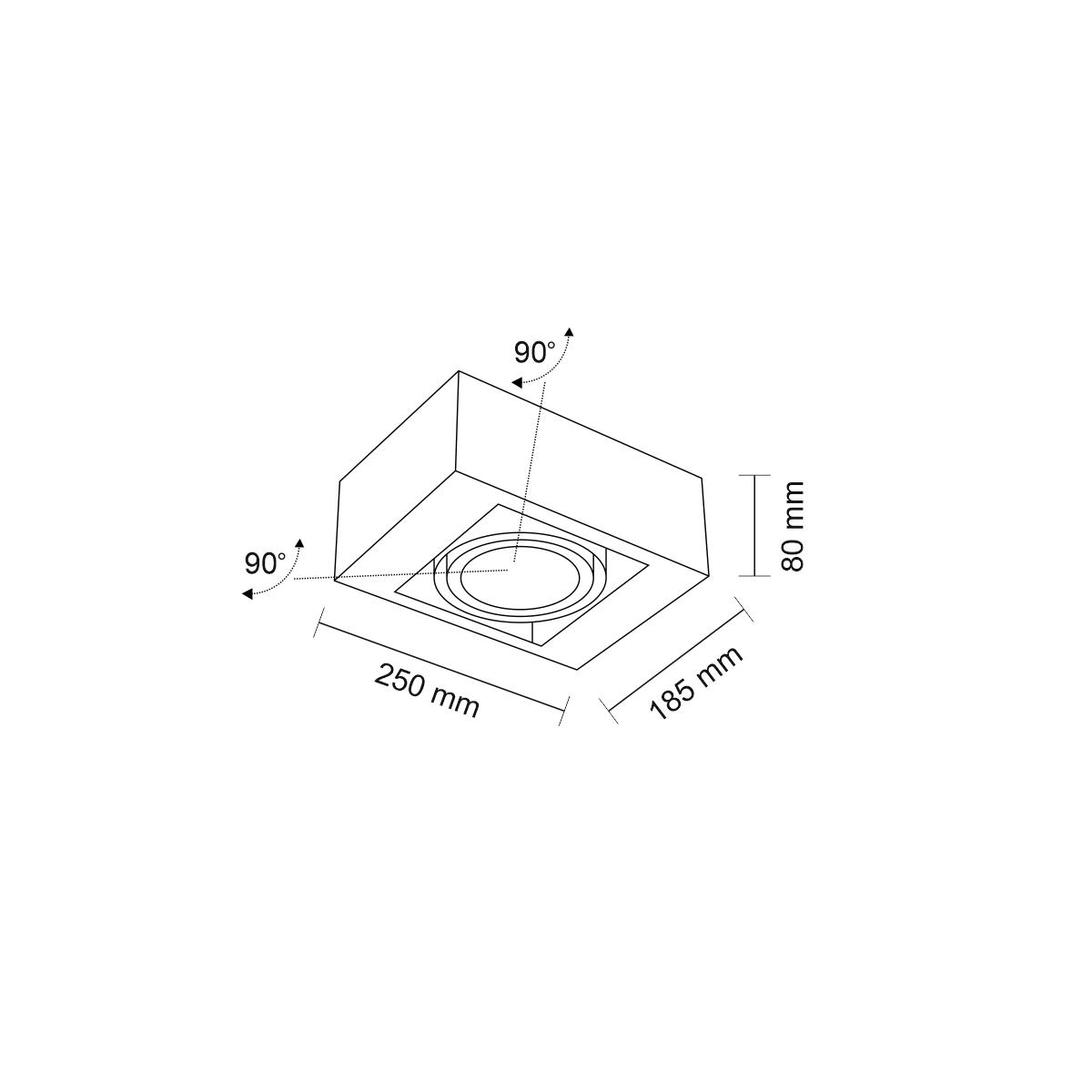 Shilo KOGA H 1xES111 230V biały natynkowa 7118