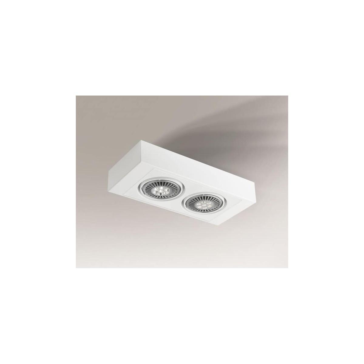 Shilo KOGA H 2xES111 230V biały natynkowa 7124