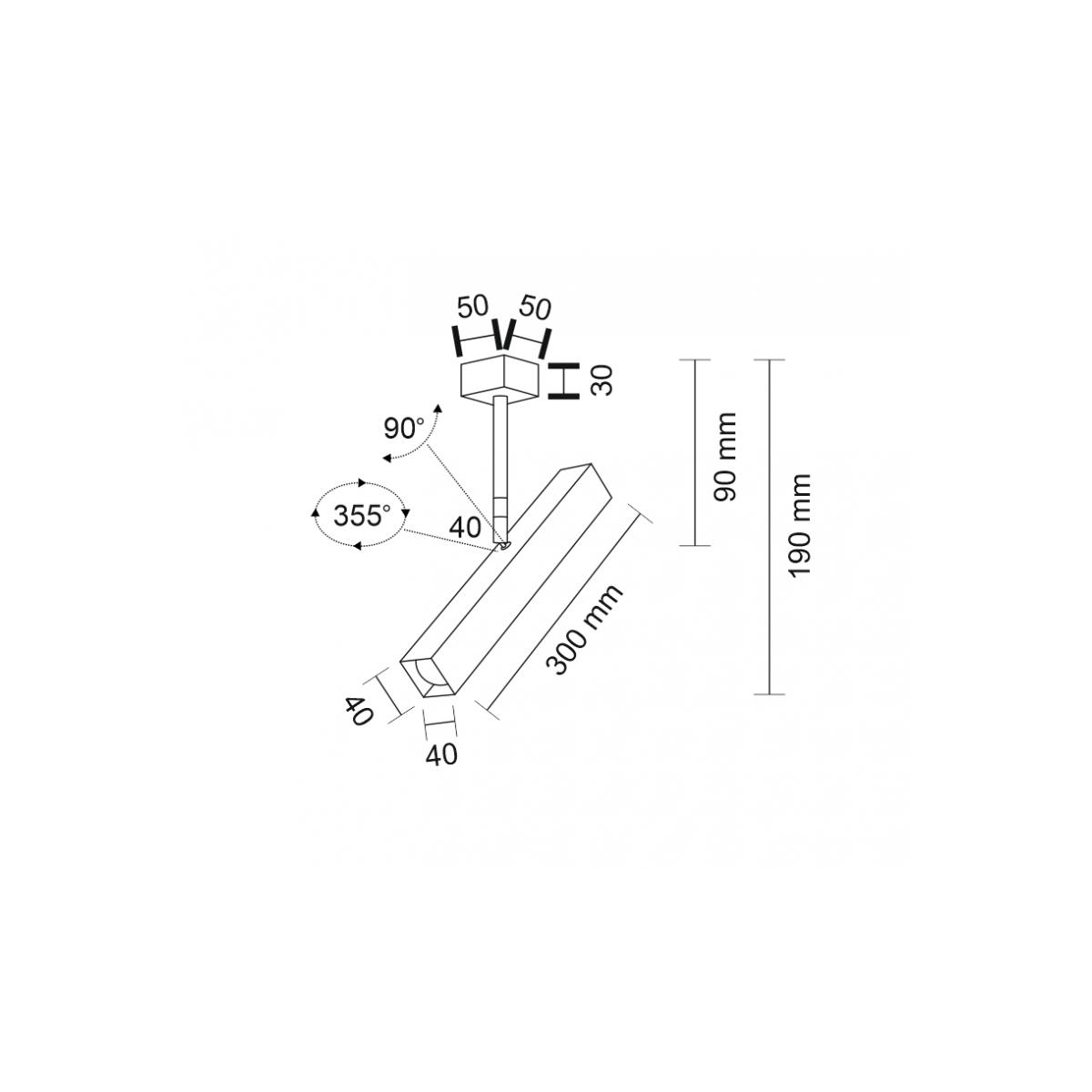 Shilo MITSUMA 1xGU10 MR11 biały reflektor 7883