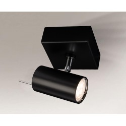 Shilo FUSSA 1xGU10 czarny reflektor 2215