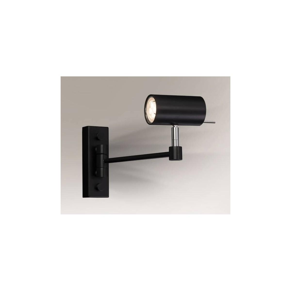 Shilo FUSSA 1xGU10 czarny reflektor 2209