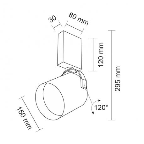 Shilo TENRI 1xES111 230V czarny reflektor 2242