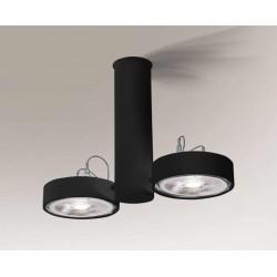 Shilo NATORI 2xES111 230V czarny reflektor 2261