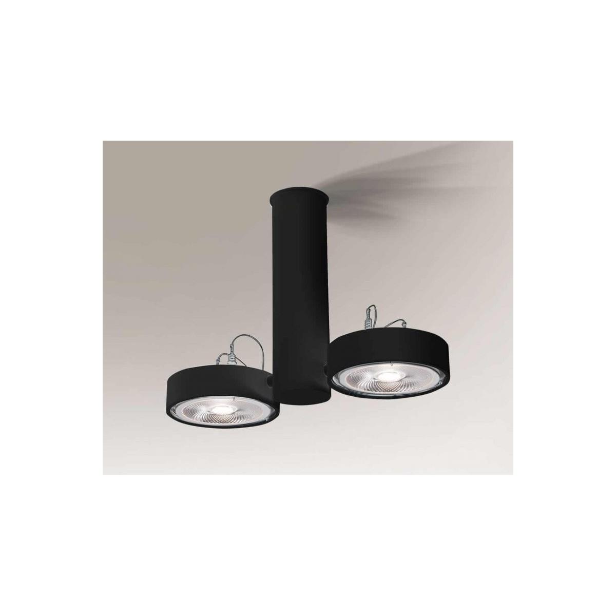 Shilo NATORI 2xAR111 12V czarny reflektor 7213