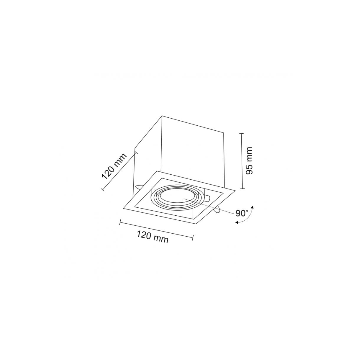 Shilo EBINO H 1xGU10 czarny wpuszczana 3345