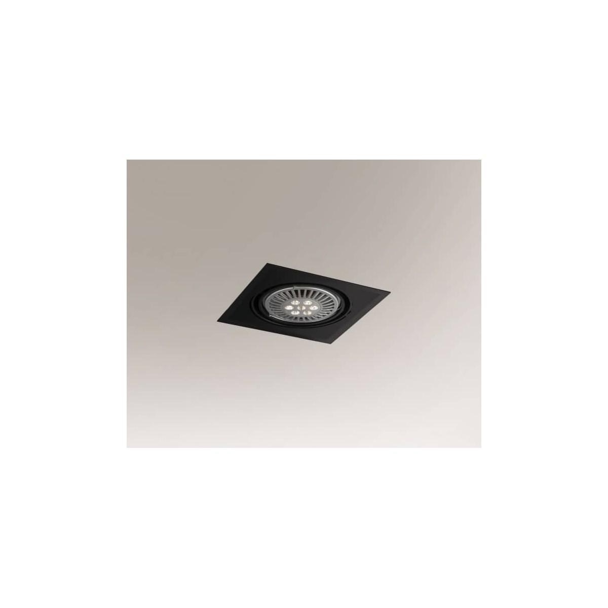 Shilo MUKO H 1xES111 230V czarny wpuszczana 3355