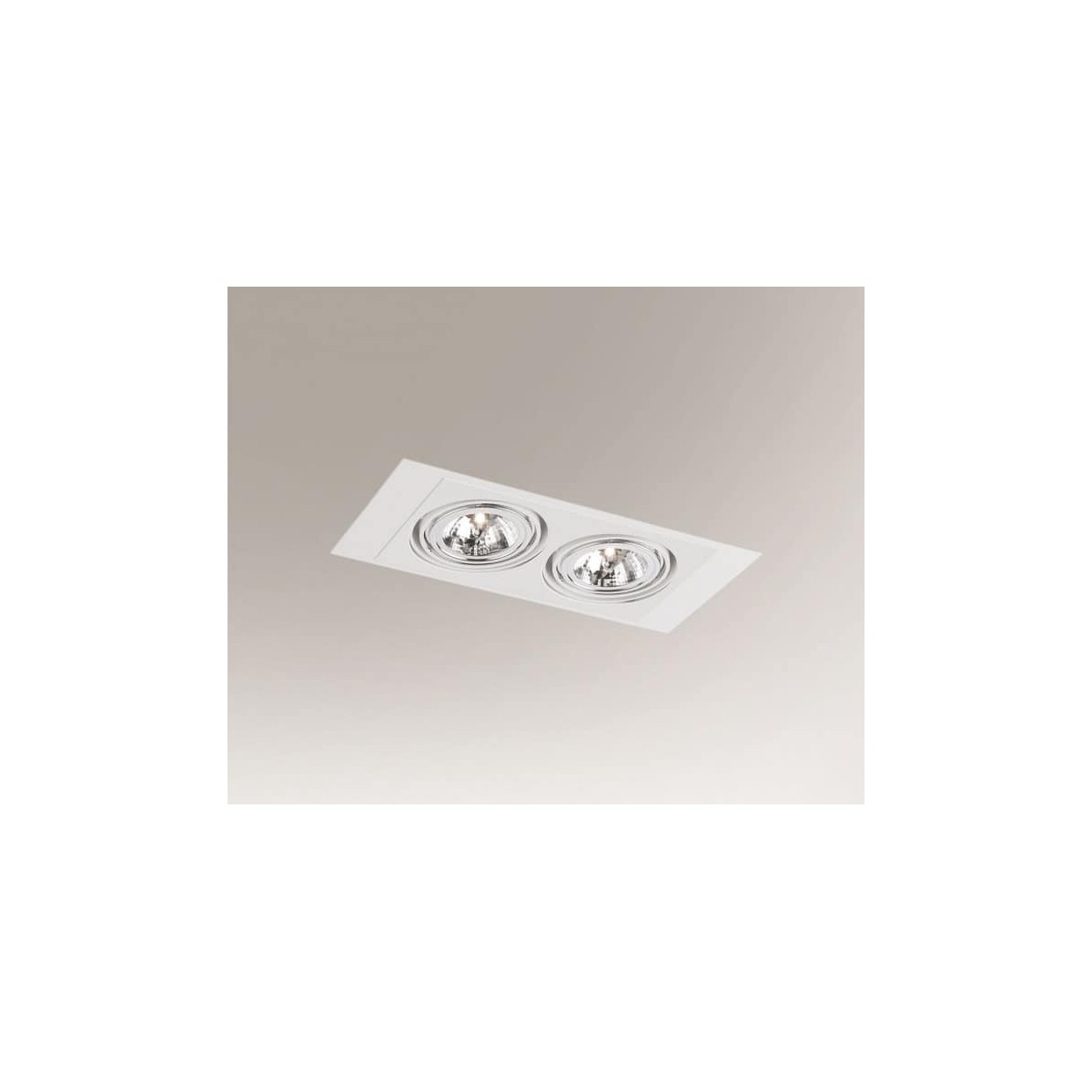 Shilo MUKO H 2xES111 230V biały wpuszczana 7355