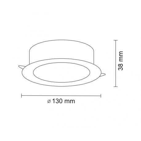Shilo TOTTORI IL LED 10W 1200lm CRI90 czarny wpuszczana 3366