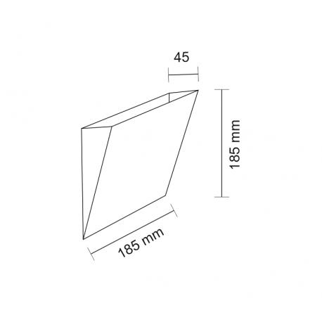 Shilo KIOTO 1xG9 biały kinkiet 7437