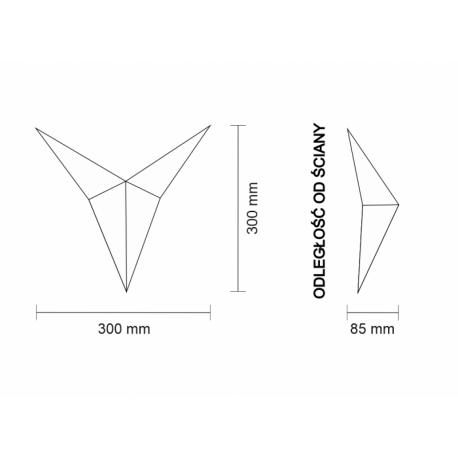 Shilo HINO IL LED 6W 600lm CRI90 biały kinkiet 7435