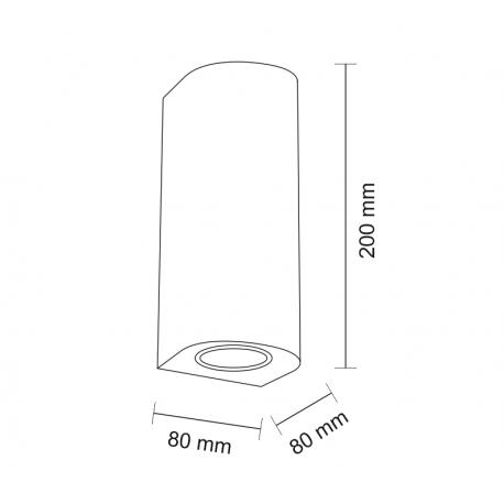 Shilo UDA 2xGU10 biały kinkiet 7459