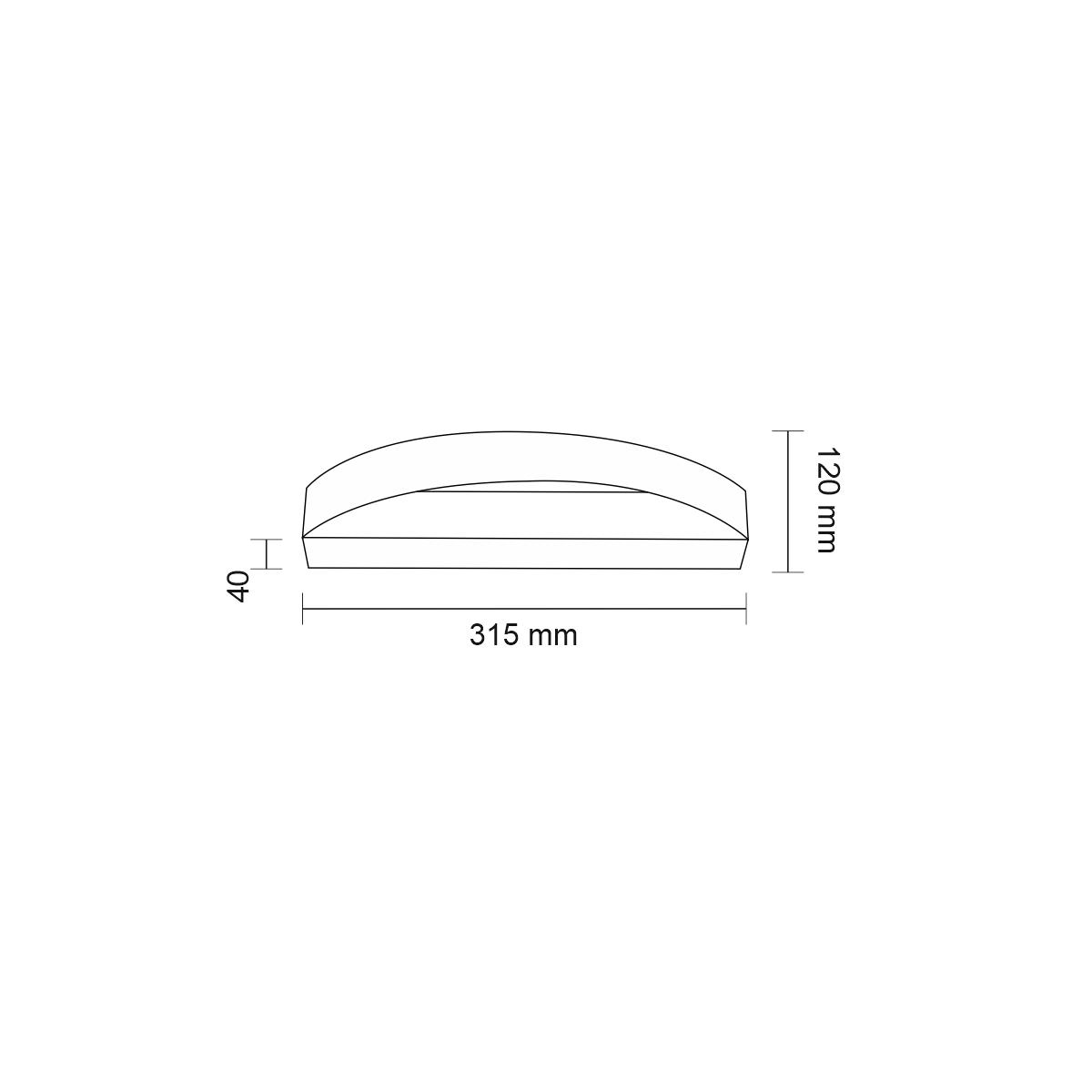 Shilo ENIWA LED 3,5W 238lm czarny kinkiet 4452