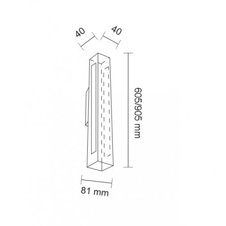 Shilo OTARU LED 2x14,4W 3240lm CRI90 czarny kinkiet 4476