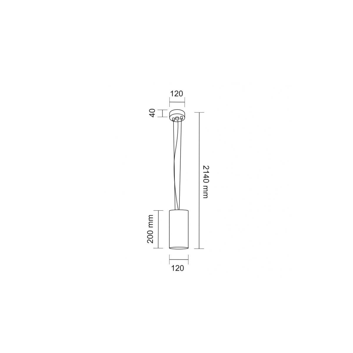 Shilo ARAO 1xGX53 biały wisząca 7649