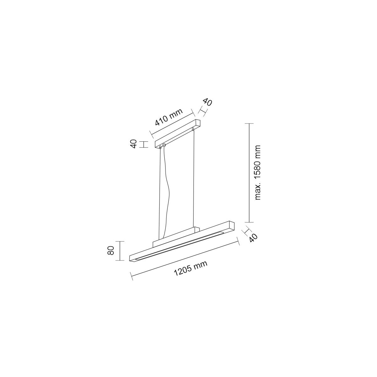 Shilo OTARU LED 38W 4320lm CRI90 biały wisząca 7621