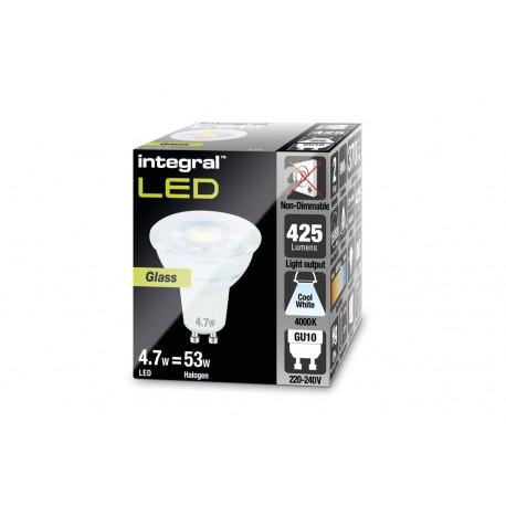 Integral LED GU10 PAR16 4.7W (53W) 4000K 425lm ILGU10NE084