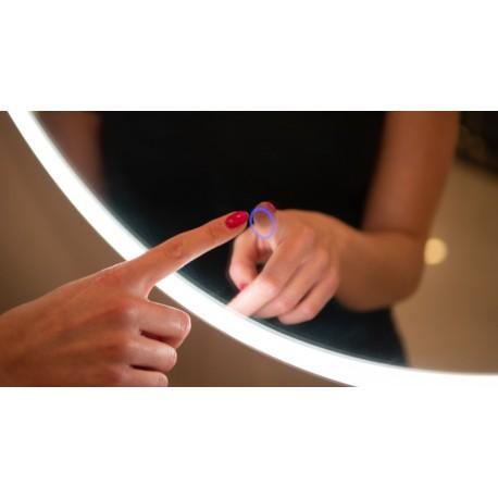 MAXlight Mirror Lustro Podświetlane Okrągłe średnica 80cm IP44 Ściemnialne W0252