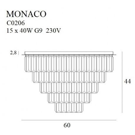 MAXlight Monaco Plafon Złoty 15xG9 60cm C0206