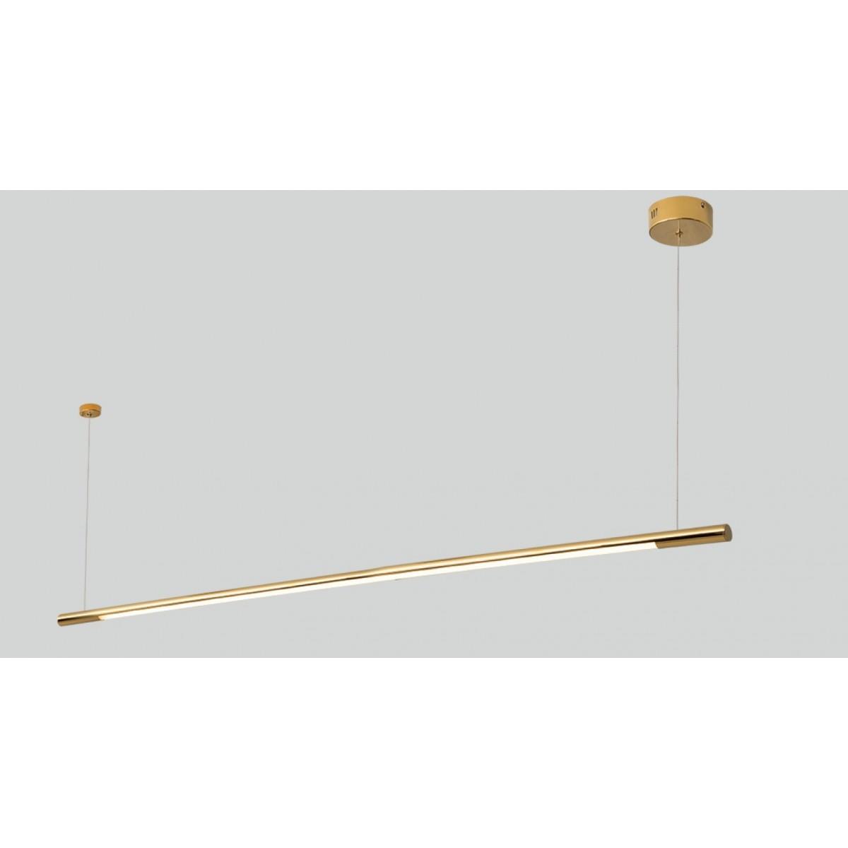 MAXlight Organic Horizon Wisząca 26W LED 2210lm 3000K 150cm Złota Ściemnialna P0360D