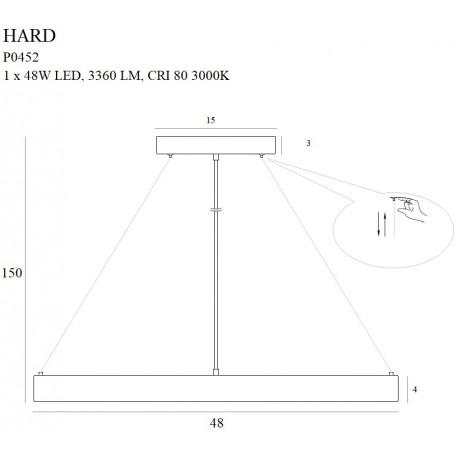 MAXlight Hard Wisząca 1x48W LED 3360lm 3000K P0452