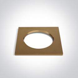 One Light Kwadratowa dekoracyjna podstawa mosiądz do 10105H