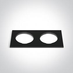 One Light Podwójna kwadratowa dekoracyjna podstawa czarna do 10105H