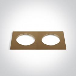 One Light Podwójna kwadratowa dekoracyjna podstawa mosiądz do 10105H