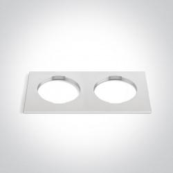 One Light Podwójna kwadratowa dekoracyjna podstawa biała do 10105H
