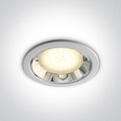 One Light Oprawa wpuszczana biała Kostos 10007/W