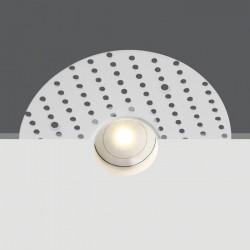 One Light Wpust sufitowy ścienny stały LED biały Ipsonas IP44
