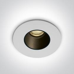 One Light wpust Drios biały ciepłe światło 10102H/W/W IP65