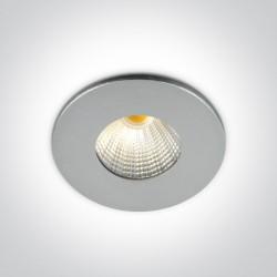 One Light Wpust aluminiowy LED stały Kato 10103B/AL/W