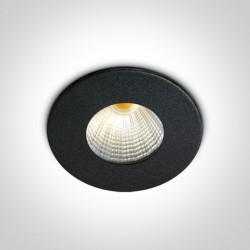 One Light Wpust aluminiowy czarny stały Kato LED 10103B/B/W