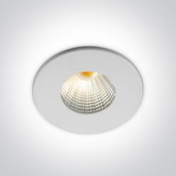 One Light Wpust aluminiowy biały stały Kato LED 10103B/B/W