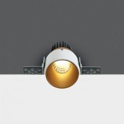One Light Wpust LED biały Lakatamia mosiężny środek 10103BTR/BS/W