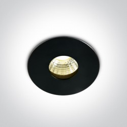 One Light Wpust LED czarny sufitowy Larnaka 10103DE/B/W