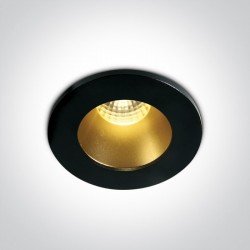 One Light Wpust LED stały czarny mosiądz Fokas 10103DL/B/BS/W