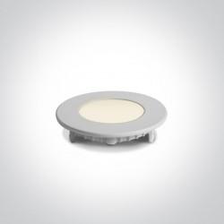 One Light Wpust LED biały wąski Lefkara 10103FA/W/W