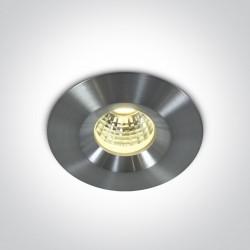One Light Wpust do łazienki LED aluminium Polis 10103P/AL/D IP65