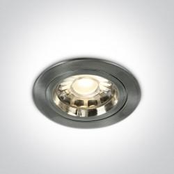 One Light Wpust sufitowy chrom matowy Pirgos 10105/MC