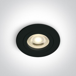 One Light Oprawa sufitowa czarna oczko Perisa 10105A1/B