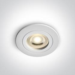One Light Oprawa sufitowa biała oczko Perisa 10105A1/W