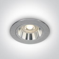 One Light Wpust oprawka sufitowa aluminiowa Jalia 10105ALG/AL