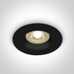 One Light Wpust oprawka sufitowa czarna Jalia 10105ALG/B