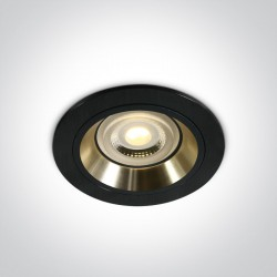 One Light Wpust oprawka sufitowa czarne złoto Jalia 10105ALG/B/GL