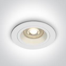 One Light Wpust oprawka sufitowa biała Jalia 10105ALG/W
