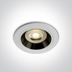 One Light Wpust oprawka sufitowa biała czarna Jalia 10105ALG/W/B